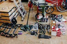Lots of CX bike bits Photo by Dan Chabanov