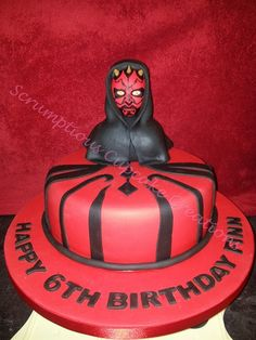 Star Wars Darth Maul Cake for little brother