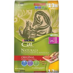 Natural nutrition Plus Vitamins and Minerals and a taste cats love combined in a convenient bag. Purina Cat Chow Naturals is a dry cat food ideal for everyday feeding with complete & balan. Natural, Dry Cat Food, Dog Food, Like A Cat, Cat Feeding, Cat Supplies, Chow Chow, Types Of Food, Vitamins And Minerals