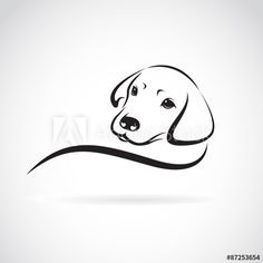 Illustration about Vector image of an dog labrador on white background. Illustration of domestic, cheerful, cartoon - 57734372 Dog Vector, Vector Art, Image Vector, Animal Drawings, Art Drawings, Dog Stock Photo, Dog Illustration, Dog Tattoos, Dog Art