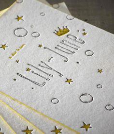 Birth Announcement Card Lily-June - Design by Jelle Van den Eeden - Proudly…