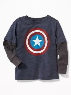 Old Navy Marvel Comics Captain America 2-in-1 Tee for Toddler Boys