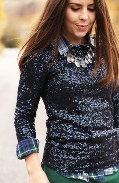 dress up plaid @trinity jackson jackson jackson jackson jackson jackson Lorrain  We've seen sparkly blazers, but check out this sparkly sweater!