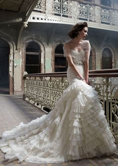 Rococo wedding gown by Lazaro