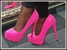As pink as it gets Pink Sneakers, Pink Shoes, Cute Shoes, Me Too Shoes, Stiletto Heels, High Heels, Stilettos, Pink Wedding Shoes, Shoe Closet