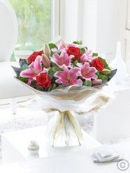 Valentine's Rose and Lily Hand-tied