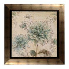 Blue Botanical Tapestry I Framed Art Print | Kirkland's