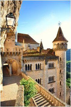 Medieval Castle, Rocamadour, France  (Source)