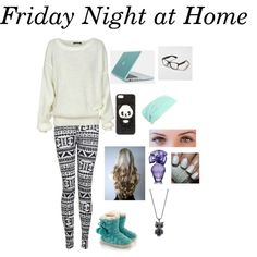 """Friday Night at Home"" by teekalynnessalon on Polyvore"