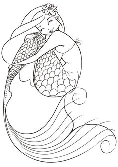 free printable coloring pages for adults mermaids Fairy | free sample | Join fb grown up coloring group: