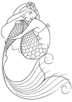 Mermaid Coloring Page - Buzzle.com Printable Templates