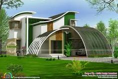 Image result for elevation plan of curvy  house