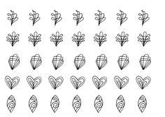 DIY Ornament Vorlage zum Ausdrucken auf www.zeitlos-brot.de verschönert #Torten, #Kuchen und #Muffins