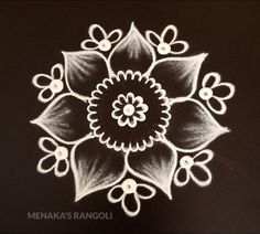 Easy Flower Rangoli For Diwali