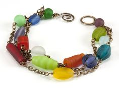Jewelry Making Idea: Frosted Mosaic Bracelet