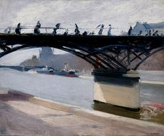 "Edward Hopper - ""Le Pont des Arts"" (1907)"