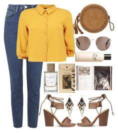 """"" by burcaak ❤ liked on Polyvore featuring Topshop, Boohoo, Splendid, T-shirt & Jeans, Linda Farrow, ZOHARA, Dolce&Gabbana, Jayson Home, StreetStyle and jean"