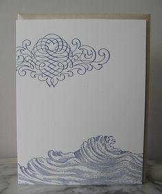 Wave by sesame letterpress