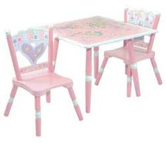 Fairy Wishes Child Table and 2 Chair Set by Levels of Discovery