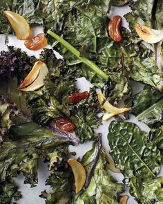 Roasted Kale, Golden Raisins, and Garlic Recipe
