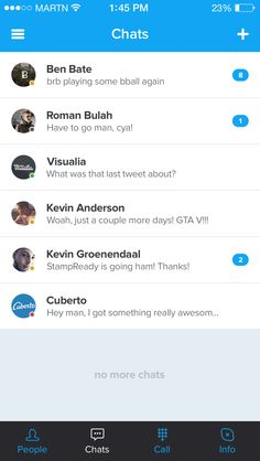 Chats in skype redesign