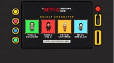 Primer Video Juego de Netflix Se trata de un juego tipo Infinite Runner, el juego está disponible en línea para jugar desde tu navegador, se trata más de una cuestión publicitaria que de un verdadero videojuego o al menos así lo sentí al probarlo. Al entrar a la página del juego, el enlace te lo dejamos el final de la nota, vas a poder escoger alguno de los personajes más representativos de las series originales actuales de Netflix, de modo que podrás jugar como Pablo Escobar, Piper…