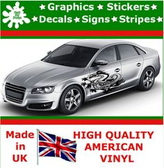 """21"""" High Car Side Stripes Graphic Decal Vinyl Stickers Van Auto Rally Race F1_52"""