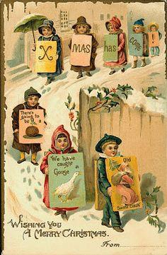 il ventaglio di piume: Bellissime cartoline di Natale vintage (pt. 2)