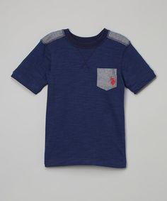 Another great find on #zulily! Marina Blue Pocket Tee - Boys #zulilyfinds