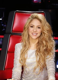 Shakira ayer en The Voice. Shakira yesterday at The Voice.
