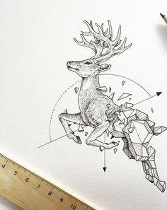 Kerby Rosanes | geometric beasts : deer