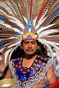 Aztec Indians | Mexico, Oaxaca State, Aztec indian dancer