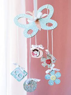 Create a Baby Home Decor Accent from Chipboard. I would change it up a little but it is a cute idea. :)