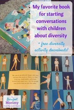 My favorite book for starting conversations with children about diversity - The Barefoot Mommy Diversity Activities, Multicultural Activities, Multicultural Classroom, Physical Activities, Preschool Lessons, Preschool Activities, Diversity In The Classroom, Professor, Libros
