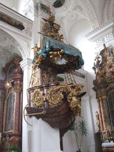Beautiful Architecture, Architecture Details, Architecture Art, Altar, Church Games, Church Interior, Kirchen, Yin Yang, Baroque