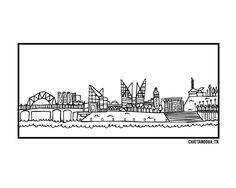 Nashville skyline silhouette google search tattoossss for Tattoo shops in chattanooga