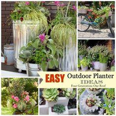 easy outdoor planter ideas
