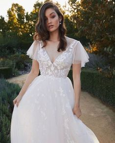 today's pick 🌸💗 . Another beauty from for the girl who wants allll the romance from her wedding dress 🤗 . The Girl Who, White Dress, Romance, Bridal, Wedding Dresses, Beauty, Fashion, Romance Film, Bride Dresses
