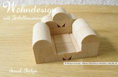 """Ein mächtiger Sessel... deshalb heißt er Sessel """"Helga"""". Designt wurde er mit den Original Froebel Holzbausteinen der Gabe 5B.  Mehr über Fröbel und die Spielgaben:  http://www.friedrich-froebel-online.de/   Diese Bausteine kaufen: http://www.friedrich-froebel-online.de/shop/spielgaben/spielgabe-5b-holzbausteine/#cc-m-product-10078222812"""