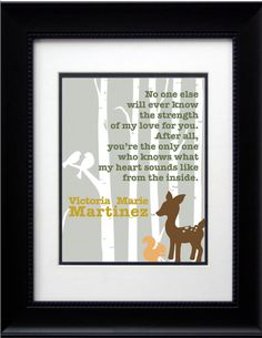 SALE 8x10 Mothers Love Print  Woodland by VAGraphicCreations, $3.99