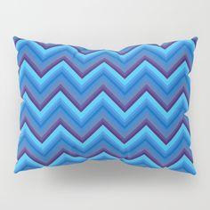 Blues Zigzag Pillow Sham