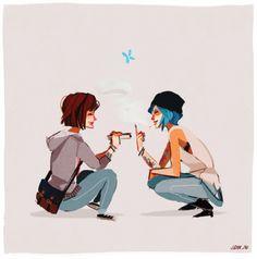 Chloe Price e Max Caulfield, Life is Strange Life Is Strange Fanart, Life Is Strange 3, Chloe Price, Overwatch, Arcadia Bay, Max And Chloe, Anime, Best Games, Fangirl
