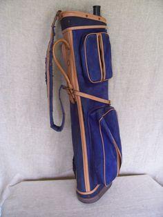 Vintage Golf Bag ATLANTIC Pro Bag TRENTON NJ - blue by LIZ404 on Etsy Vintage Golf Clubs, Golf Bags, Blue, Etsy