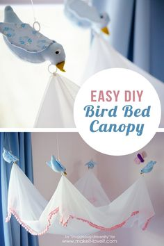 Easy DIY Bird Canopy....for above a BED! | via Make It and Love It