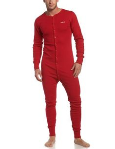 c201d11b84 Carhartt Men's Midweight Cotton Union Suit, Red, X-Large Regular Carhartt ,http