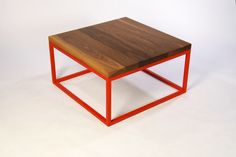 table red & wood