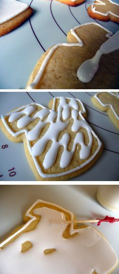 to Decorate Cookies with Royal Icing The best royal icing how to I've ever read.Now I need an excuse for cookies!The best royal icing how to I've ever read.Now I need an excuse for cookies! Iced Cookies, Royal Icing Cookies, Sugar Cookies Recipe, Cookies Et Biscuits, Cupcake Cookies, Cookie Recipes, Cookie Favors, Baby Cookies, Flower Cookies