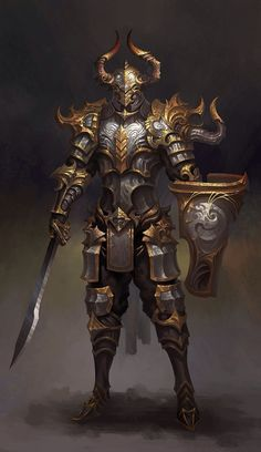 m Paladin Warrior Armor Fantasy Warrior, Fantasy Male, Fantasy Rpg, Medieval Fantasy, Fantasy Artwork, Dark Fantasy, Dragon Warrior, Final Fantasy, Fantasy Character Design