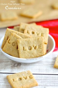 Gluten Free Crackers (Vegan 'wheat thins')  The Best copycat gluten free dairy free cracker with whole grains.