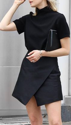 Black obsession outfit: top + skirt